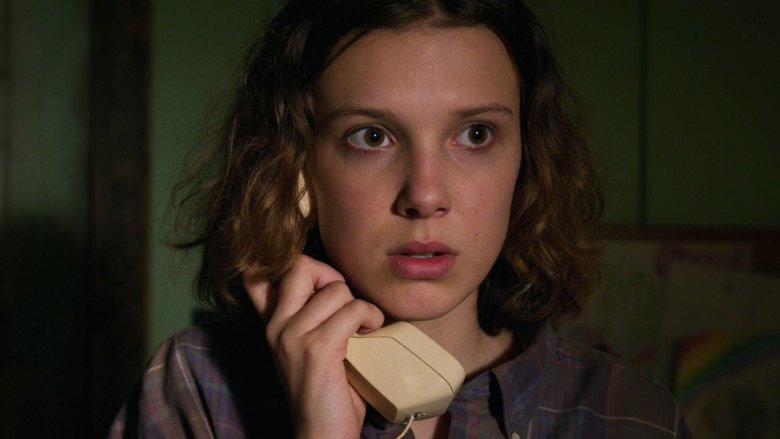 Millie Bobby Brown as Eleven on Stranger Things season 3 episode 2