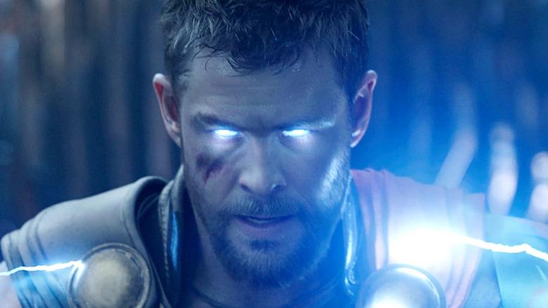 Thor's eyes glow