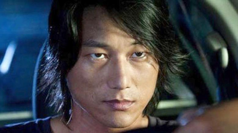Han Lue at the steering wheel