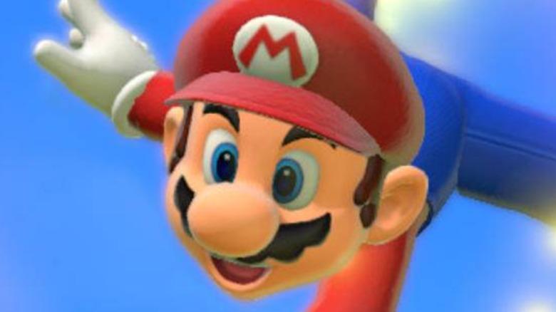 Mario in the air Super Mario 3D World