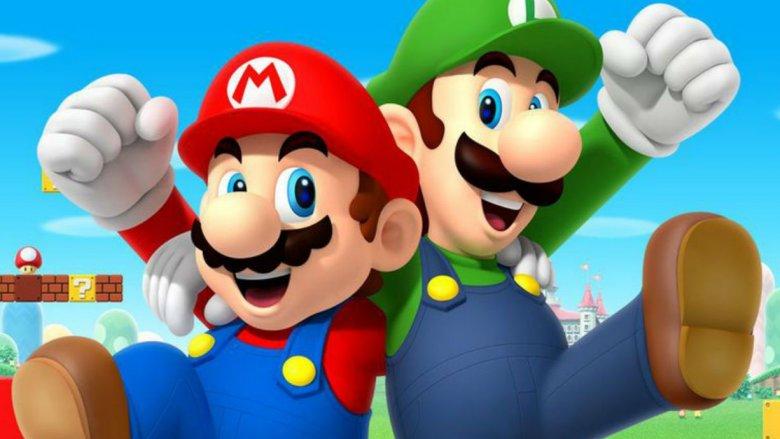 Mario Luigi Super Mario Bros Nintendo