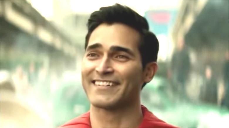 Tyler Hoechlin smiling as Superman