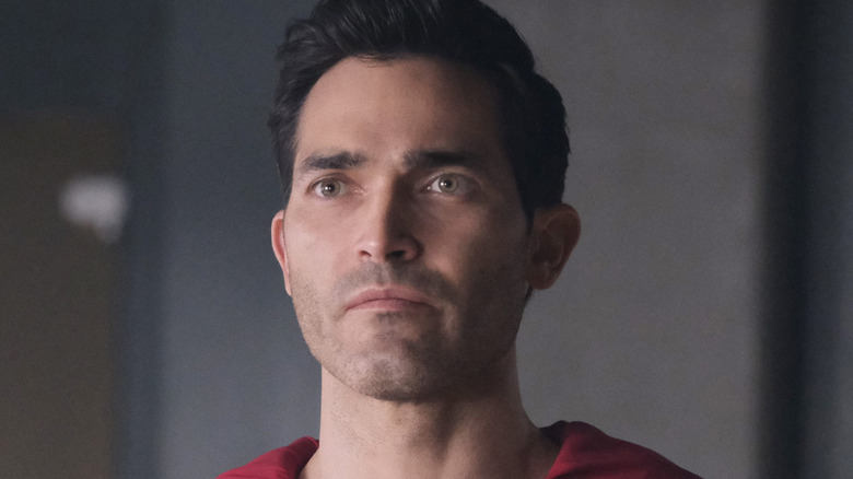 Superman looking serious