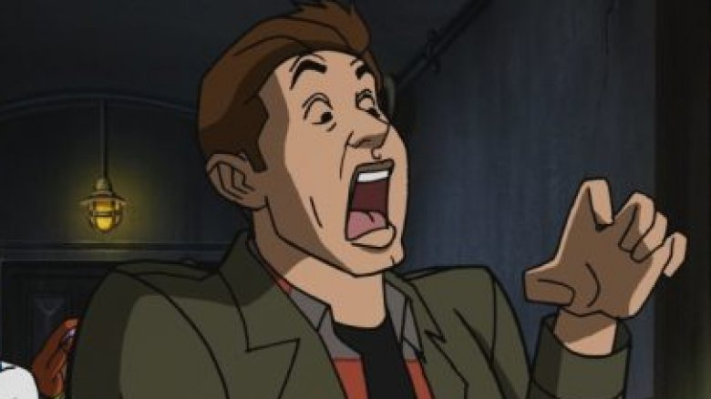 Cartoon Jensen Ackles as Dean Winchester in Scooby-Doo Supernatural crossover