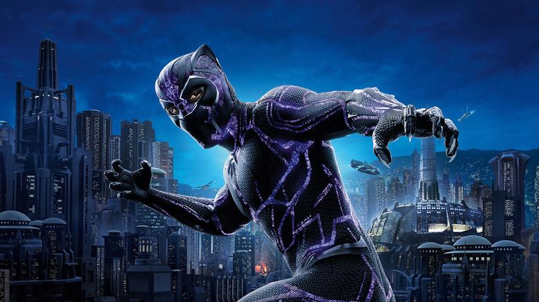 Chadwick Boseman as Black Panther in Black Panther