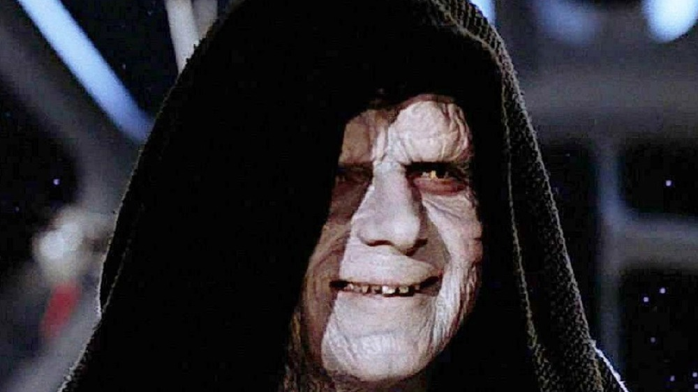 Emperor Palpatine doing a lot of talking