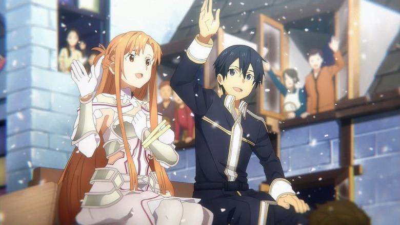Kirito and Asuna at festival