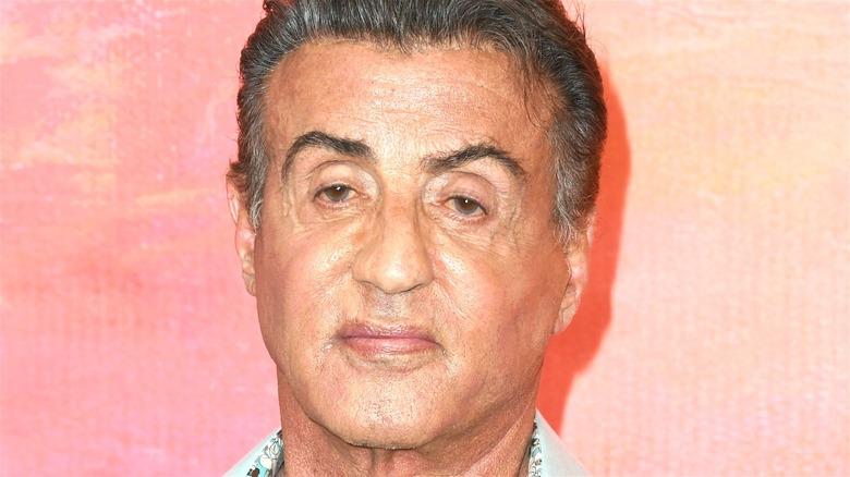 Sylvester Stallone posing red carpet