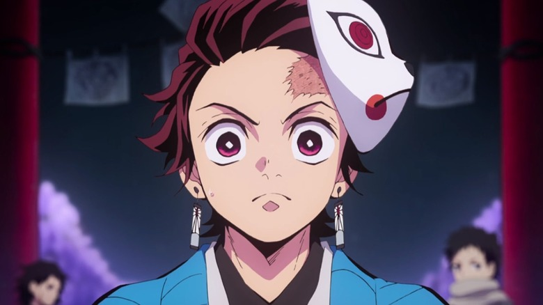 Tanjiro looking determined