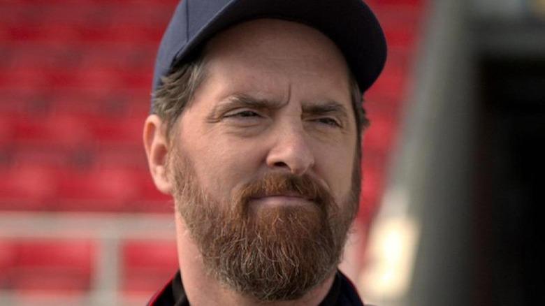 Coach Beard in AFC Richmond stadium