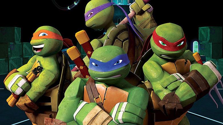 The turtles from the CG animated Teenage Mutant Ninja Turtles TV series