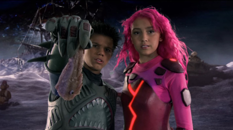 Sharkboy and Lavagirl offer fish