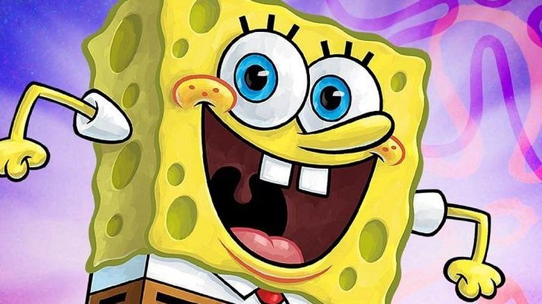 SpongeBob smiling eagerly