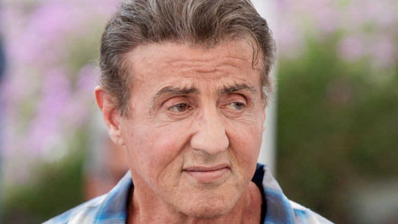 Sylvester Stallone outside