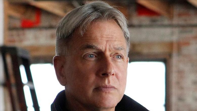 Mark Harmon Agent Gibbs expressionless