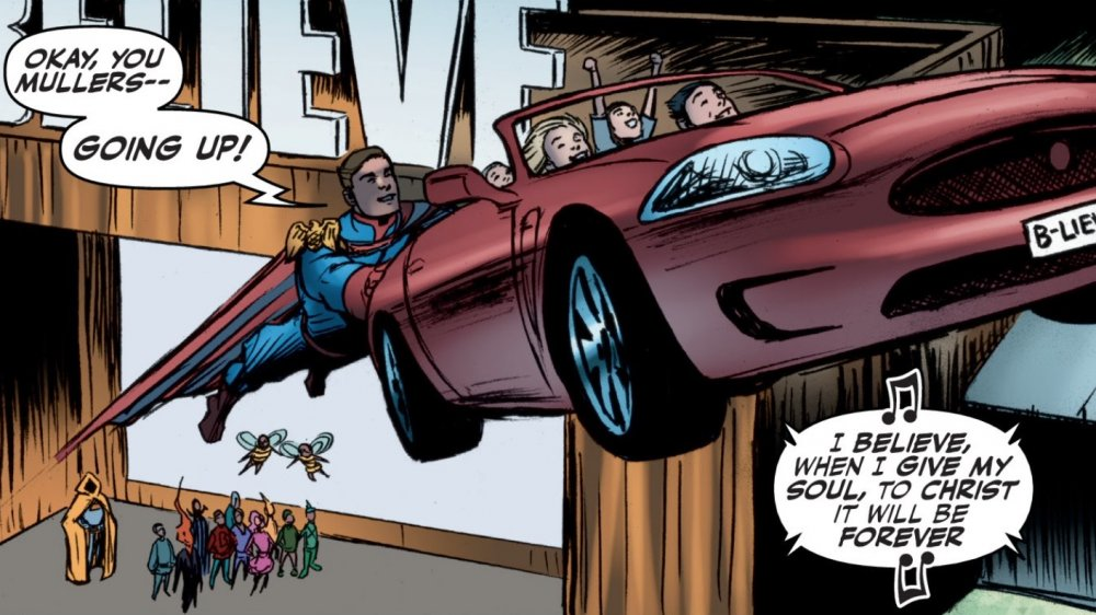 Homelander takes the Muller family for a ride in The Boys issue #47