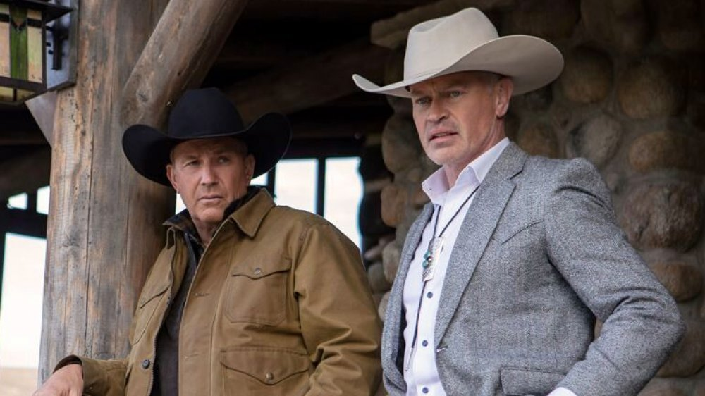 Neal McDonough and Kevin Costner on Yellowstone