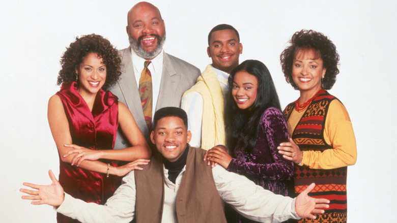 The cast of Fresh Prince of Bel-Air in a promo photo