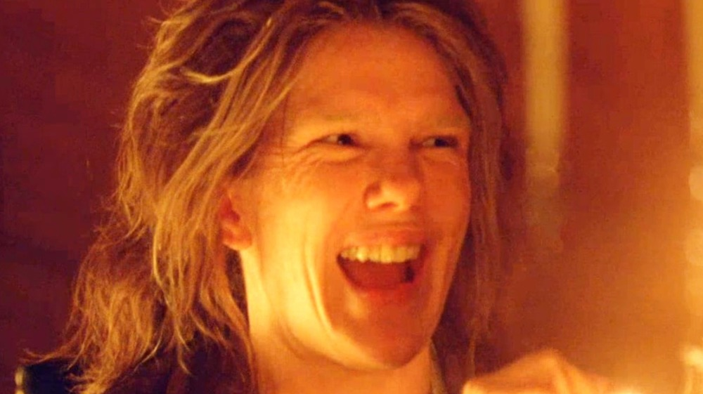 Lily Rabe laughing