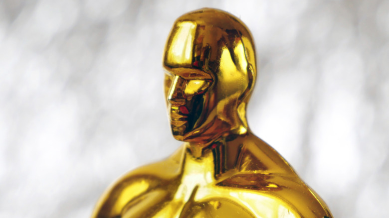 Oscar statuette ready for a closeup