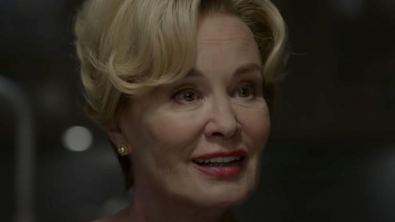 Jessica Lange smiling in Apocalypse