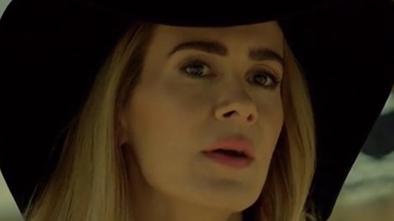 Cordelia Goode in hat