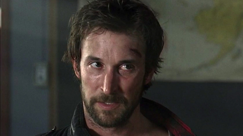 Tom Mason stares intently on Falling Skies