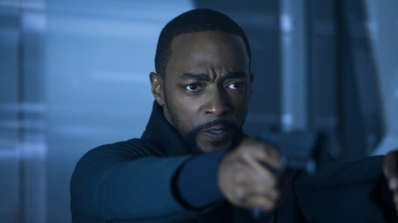Anthony Mackie as Takeshi Kovacs on Altered Carbon