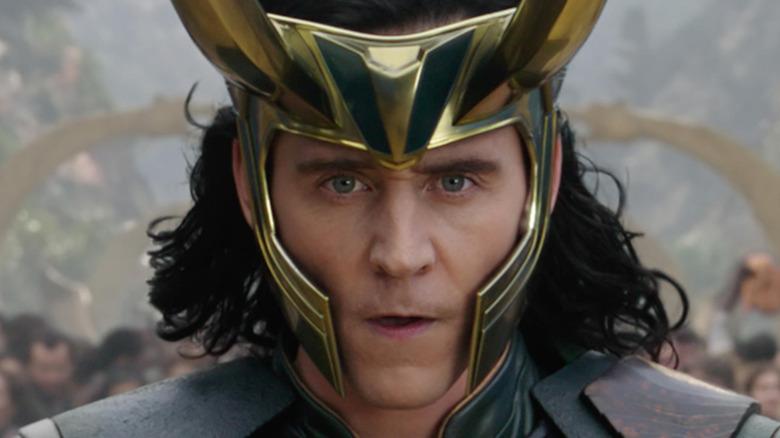 Loki with his helmet