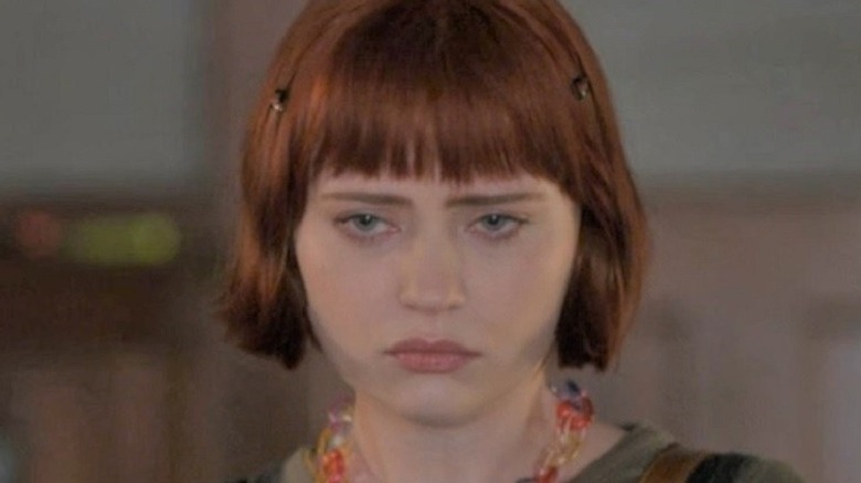 Scarlett looking glum