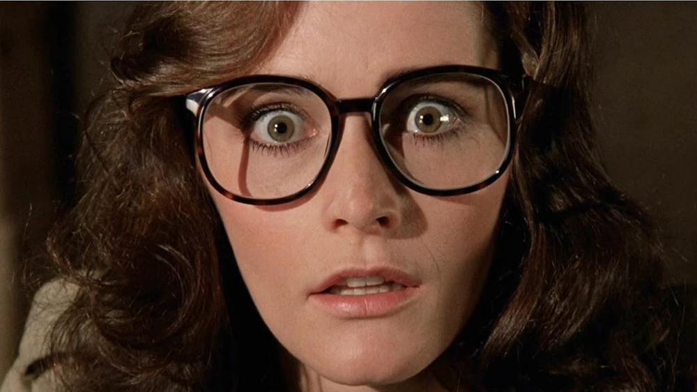 Kathy Lutz wearing glasses