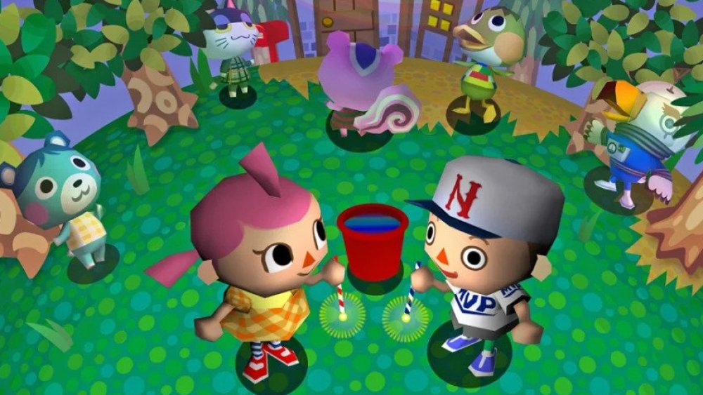 Animal Crossing house with Nintendo consoles