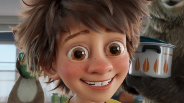 Animated boy smiling