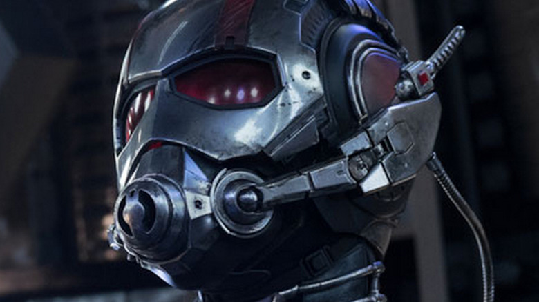 Ant-Man's helmet with scuff marks