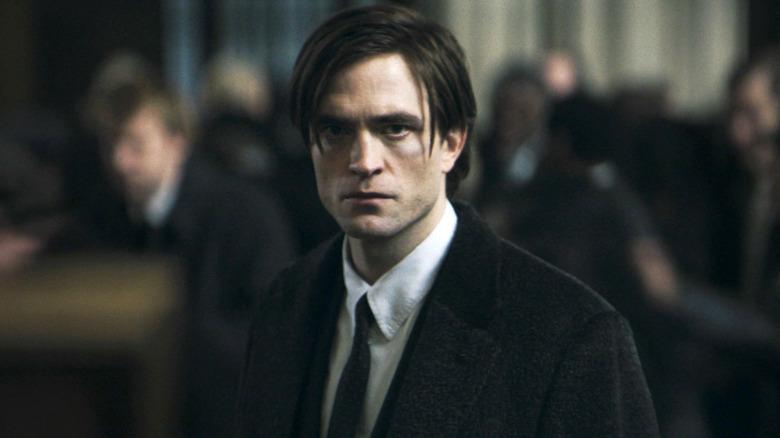 Robert Pattinson as Bruce Wayne in the trailer for The Batman