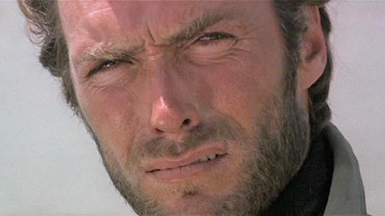 Clint Eastwood glaring