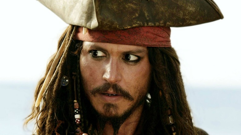 Johnny Depp as Jack Sparrow in Pirates of the Caribbean: The Curse of the Black Pearl