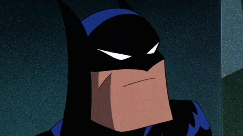 Animated Batman scowling