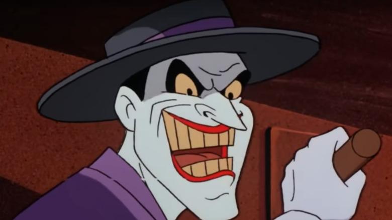 Joker pulling a lever