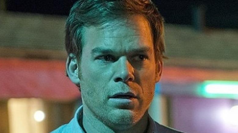 Dexter Morgan looks shocked