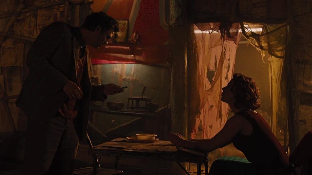 Mark Ruffalo as Bruce Banner and Scarlett Johansson as Natasha Romanoff in The Avengers