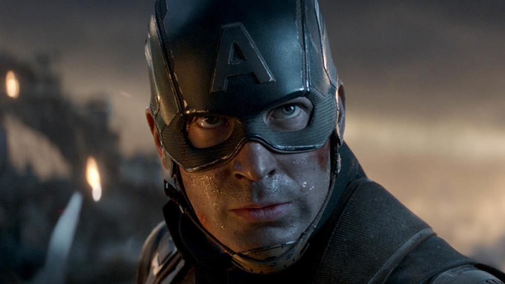 Captain America faces Thanos