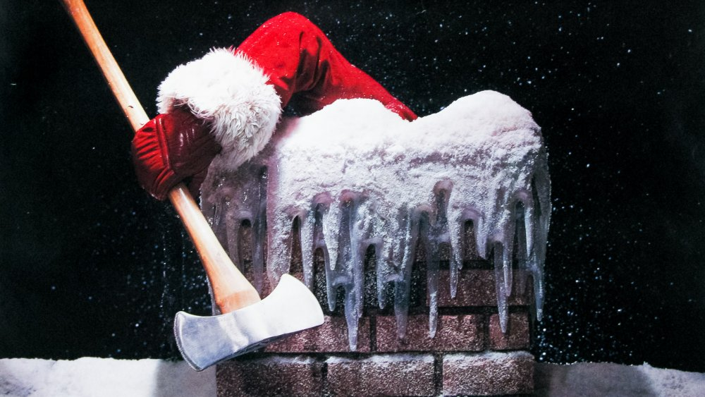 Santa chimney with ax