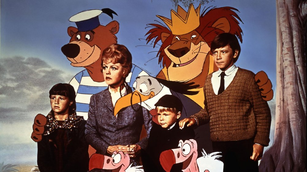 The live and animated cast of Bedknobs and Broomsticks