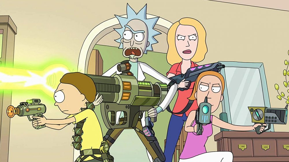 """The Smith-Sanchez family on Rick and Morty's """"Total Rickall"""""""