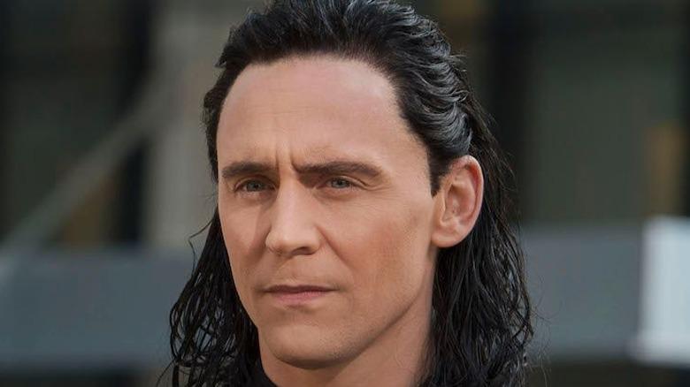 Loki grimacing face