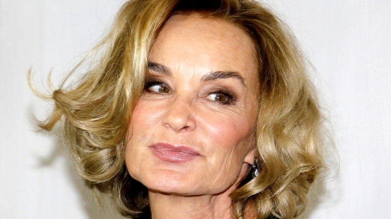Jessica Lange smiling and looking to the side