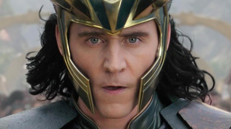 Loki wearing helmet