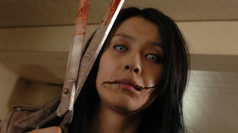 Miki Mizuno as Kuchisake-onna in Carved: The Slit-Mouthed Woman