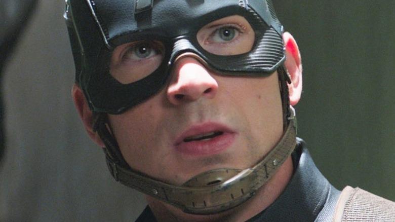 Captain America wearing mask